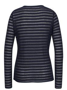 Cardigan tricotat bleumarin cu insertii translucide - Haily´s Emma