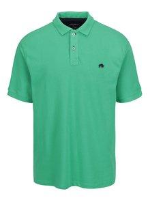 Tricou polo verde cu logo brodat - Raging Bull