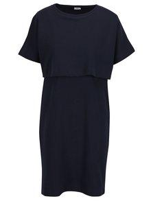 Tmavomodré šaty s krátkym rukávom pre dojčiace ženy Mama.licious Malan