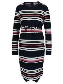 Tmavomodré pruhované tehotenské šaty Mama.licious Dione