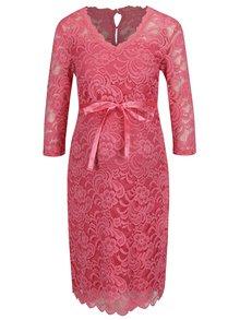 Rochie din dantela roz pentru femei insarcinate - Mama.licious Ivana