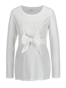 Bluza alba cu funda in talie pentru femei insarcinate - Mama.licious Celine