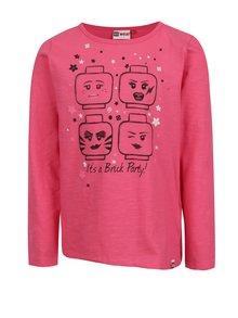 Ružové dievčenské tričko s dlhým rukávom Lego Wear Tanya