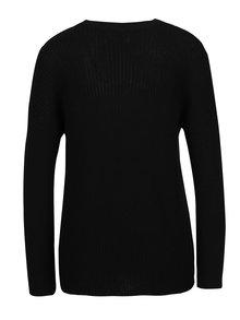 Čierny rebrovaný sveter s chokerom ONLY Kristi