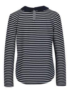 Bielo-modré pruhované tričko s golierikom ONLY Carmella