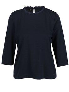 Bluza bleumarin cu maneci 3/4 si volan la guler  ONLY Victoria