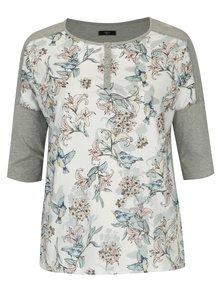 Bluza crem&gri cu print floral M&Co Plus
