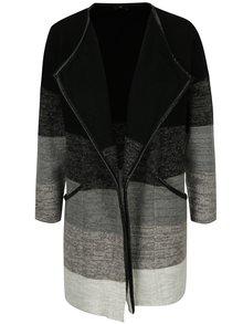 Šedo-černý dámský cardigan s kapsami M&Co Petite