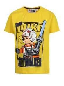 Žlté chlapčenské tričko s potlačou Lego Wear