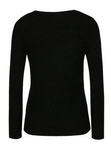 Černý svetr s ptáčky z flitrů M&Co Petite