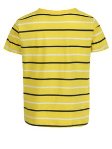 Žluté klučičí pruhované tričko s potiskem Lego Wear Thomas