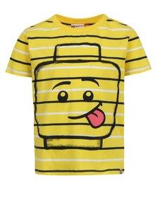 Žlté chlapčenské pruhované tričko s potlačou Lego Wear Thomas