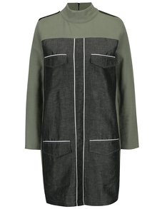 Šedo-zelené šaty s kapsami Framboise Lorna
