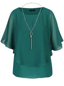 Bluza verde inchis cu colier M&Co