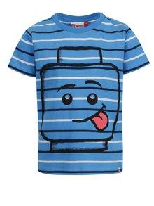 Modré chlapčenské pruhované tričko s potlačou Lego Wear Thomas