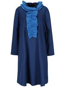 Tmavě modré šaty s volánky Framboise Cut from crisp
