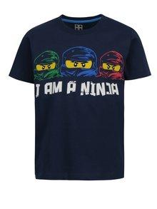 Tmavomodré chlapčenské tričko s krátkym rukávom Lego Wear