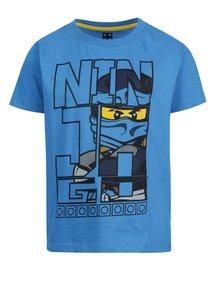 Modré chlapčenské tričko s krátkym rukávom a potlačou Lego Wear