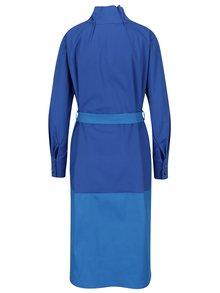Tmavě modré košilové šaty s páskem Framboise Atry