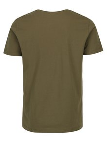Khaki pánské tričko s potiskem Calvin Klein Jeans Treasure