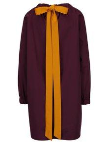 Fialové šaty se zavazováním na mašli za krkem Framboise Arron