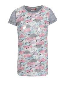 Ružovo-biele dievčenské tričko s potlačou Lego Wear Tillie