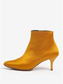 Žluté kotníkové boty na podpatku OJJU