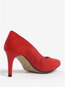 Pantofi rosii cu toc si varf ascutit - OJJU