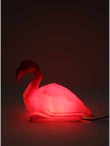 Lampa LED sub forma de flamingo roz - Disaster