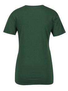 Tmavě zelené dámské tričko s výšivkou Calvin Klein Jeans Tanya