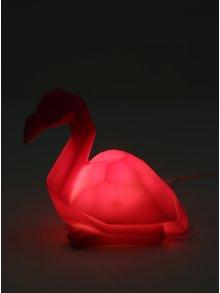 Lampa LED flamingo roz cu incarcare USB si baterii - Disaster