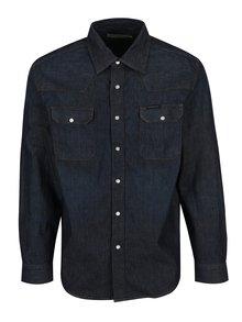 Tmavě modrá pánská džínová košile s dlouhým rukávem Calvin Klein Jeans Archive Western