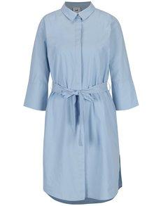 Světle modré kojicí košilové šaty Mama.licious Krista