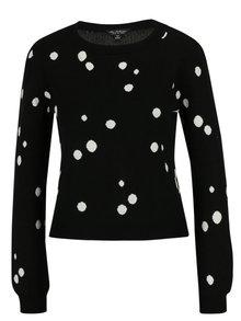 Pulover cropped negru cu buline -  Miss Selfridge