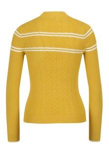 Horčičový vzorovaný sveter Miss Selfridge