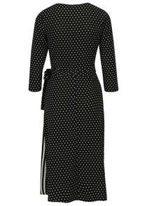 Čierne vzorované zavinovacie šaty Miss Selfridge