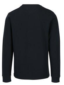 Tmavomodré pánske tričko s dlhým rukávom a nášivkou Tommy Hilfiger Allen