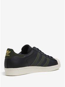 Zeleno-černé pánské tenisky adidas Originals Superstar 80s