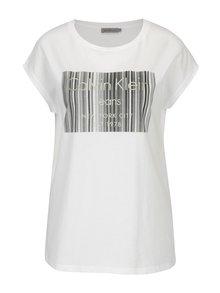 Biele dámske tričko s potlačou Calvin Klein Jeans Tika