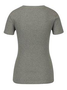 Šedé dámské žebrované tričko s potiskem Calvin Klein Jeans Tanya