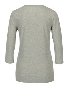 Sivé dámske tričko s 3/4 rukávom Tommy Hilfiger Lizzy