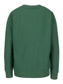 Zelená dámska mikina s výšivkou Calvin Klein Jeans Honci