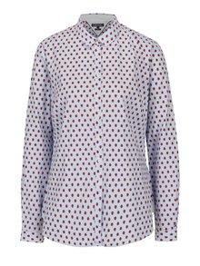 Modrá dámska pruhovaná slim fit košeľa s motívom lienok Tommy Hilfiger