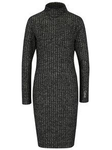 Sivé melírované rebrované šaty Calvin Klein Jeans Dilon