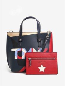 Červeno-čierna kabelka s puzdrom 2v1 Tommy Hilfiger