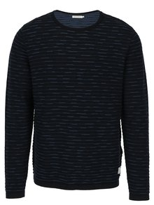 Tmavě modrý svetr s jemným vzorem Jack & Jones Tono
