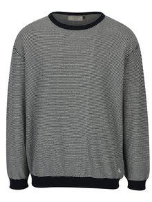 Pulover tricotat bleumarin cu dungi albe - Jack & Jones Nash
