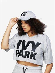 Svetlosivá šiltovka s vyšitým logom Ivy Park