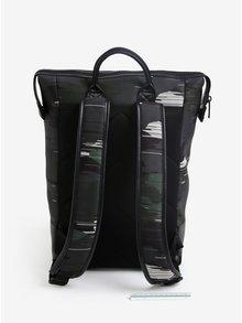 Zeleno-čierny maskáčový batoh so zipsom Calvin Klein Jeans Caillou