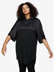 Čierne dlhé oversize tričko s kapucňou Ivy Park